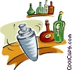 Vector Clip Art graphic  of a bar shaker