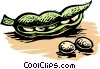 peas in a pod Vector Clipart illustration