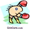 Vector Clipart illustration  of a boxer