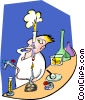 Vector Clipart illustration  of a science