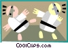 Vector Clip Art graphic  of a martial arts