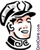 Service industry man Vector Clipart graphic