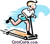 boy on riding toy Vector Clipart graphic
