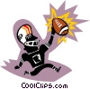 football player Vector Clipart illustration