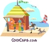 Vector Clipart graphic  of a day at the beach
