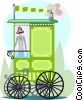ice cream vendor Vector Clip Art picture