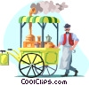 coffee wagon Vector Clipart illustration