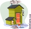 Vector Clipart picture  of a winter ice-fishing shack