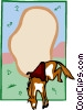 bucking bronco design Vector Clip Art picture