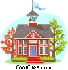 Vector Clip Art graphic  of a Traditional schoolhouse