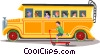 school bus Vector Clipart graphic