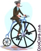 Vector Clipart graphic  of a Man with a bicycle