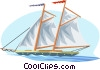 sailing vessel Vector Clipart illustration