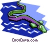 Vector Clipart graphic  of a sea creature