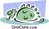 Vector Clip Art image  of a sea monster