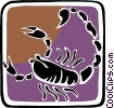 Vector Clipart image  of a symbolic crab