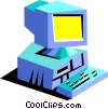 modern computer Vector Clip Art picture