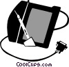 drawing tablet with pen Vector Clip Art picture