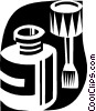 Vector Clip Art graphic  of a kitchen tools