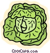 Vector Clipart picture  of a lettuce