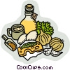 Vector Clip Art picture  of a salad dressing ingredients
