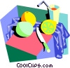 in the kitchen Vector Clipart picture
