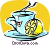 Vector Clipart image  of a lemon tea