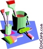 Vector Clip Art image  of a painter's tools