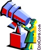 Vector Clipart picture  of a telescope