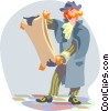 town crier Vector Clipart graphic