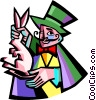 Vector Clipart picture  of a magician