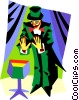magician Vector Clipart graphic