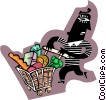 Vector Clip Art picture  of a shopping