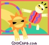 Children at play Vector Clipart illustration