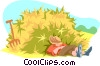 sleeping on the job Vector Clip Art picture