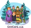 Vector Clipart graphic  of a winter celebration