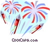 Vector Clip Art image  of a Fireworks display