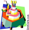 birthday/birthday cake Vector Clipart illustration