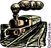 Vector Clip Art picture  of a Steam train
