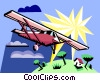 Vector Clipart image  of a plane