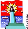 Vector Clip Art picture  of a lighthouse