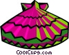 Vector Clip Art image  of a fan