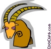 Vector Clip Art graphic  of a symbolic antelope