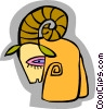 symbolic ram Vector Clipart graphic