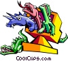 Vector Clip Art image  of a technology creatures