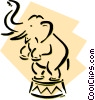 circus elephant Vector Clip Art picture