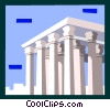 Vector Clip Art graphic  of a Roman architecture