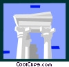 Vector Clip Art image  of a roman architecture