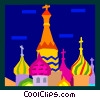 Vector Clipart graphic  of a Russian buildings