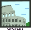 Vector Clip Art picture  of a Roman architecture